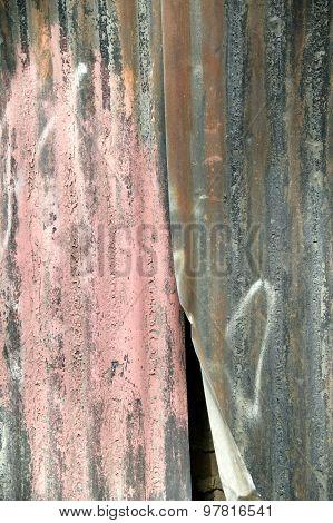 Corrugated iron fencing background
