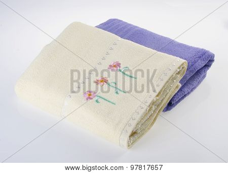 towel or soft towel on a white background