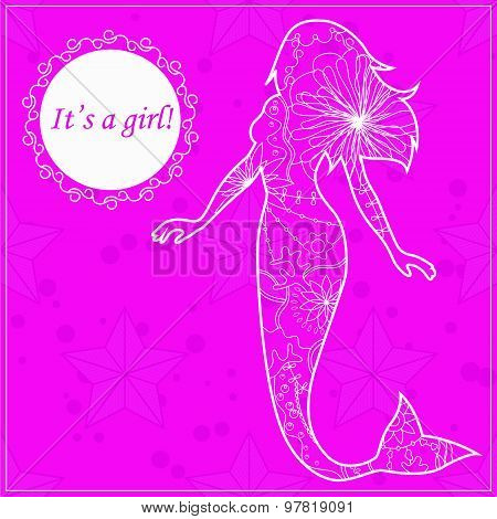 Its a girl card with mermaid