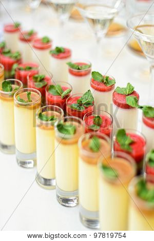 Delicious sweet mousses