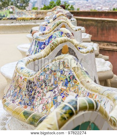 Park Guell_Benches at Guell park