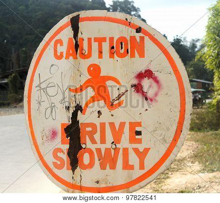 Interesting road sign indicating something.