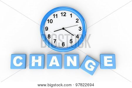 3d time for change concept