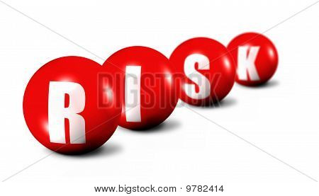 Risk Word Made Of 3D Spheres