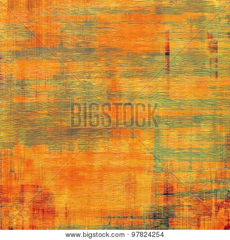 Old ancient texture, may be used as abstract grunge background. With different color patterns: yellow (beige); brown; red (orange); green