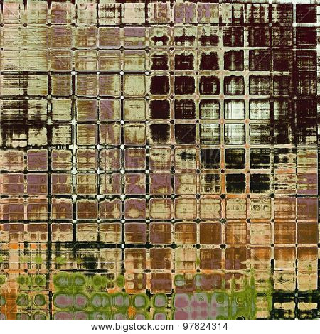 Grunge aging texture, art background. With different color patterns: yellow (beige); brown; purple (violet); green
