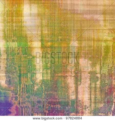Old antique texture or background. With different color patterns: yellow (beige); brown; purple (violet); green
