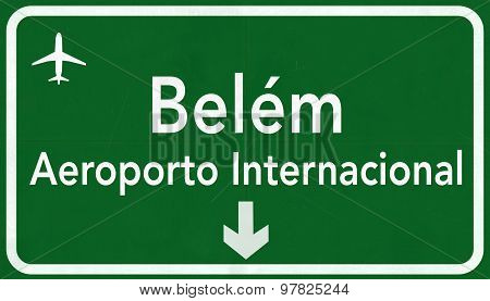 Belem Brazil International Airport Highway Sign