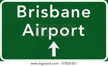 Brisbane Australia International Airport Highway Sign