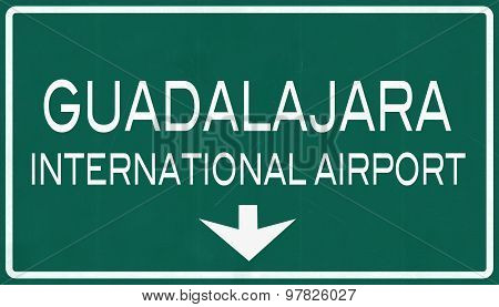Guadalajara Mexico International Airport Highway Sign