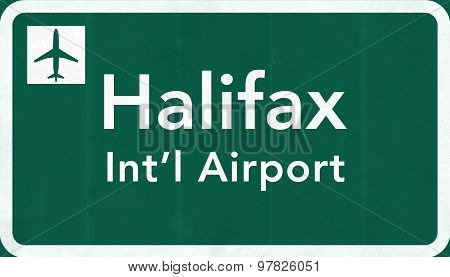 Halifax Stanfield Canada International Airport Highway Sign