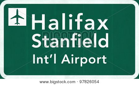 Halifax Stanfield Canada International Airport Highway Sign