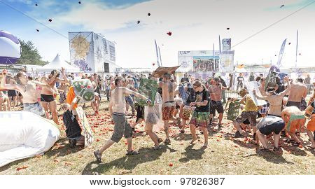 Tomato Fight On The 21Th Woodstock Festival Poland.