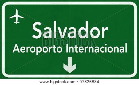 Salvador Brazil International Airport Highway Sign