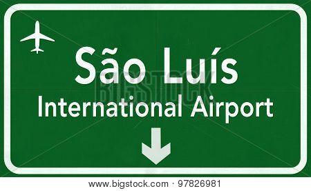 Sao Luis Brazil International Airport Highway Sign