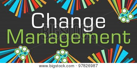 Change Management Dark Colorful Elements