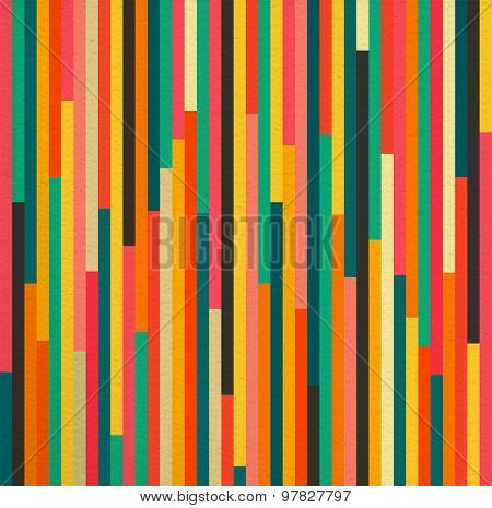 Abstract Color Vintage Retro Seamless Pattern