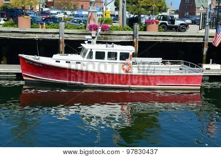 Fishing Boat at Portland, Maine, USA