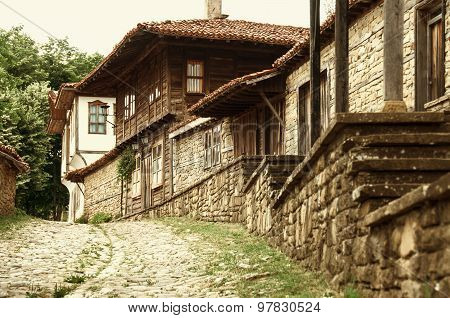 Old authentic Bilgarian house in  Architectural-Ethnographic Complex.Bulgaria