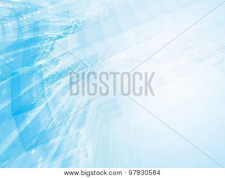 Abstract blue background design. Detailed computer graphics.