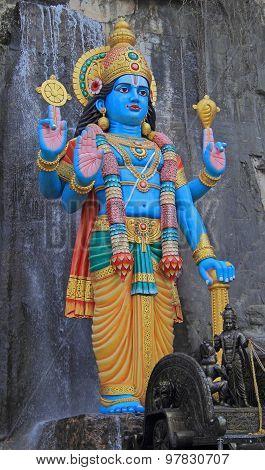statue of Krishna nearly Batu caves
