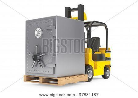Forklift Truck With Metal Safe