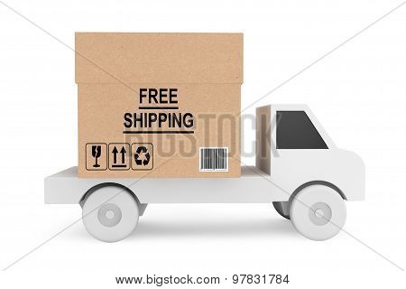 Simple Truck Load With Free Shipping Box