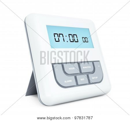 Digital Alarm Clock With Lcd Display