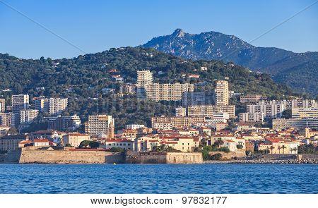Ajaccio, Coastal Cityscape, Corsica Island, France