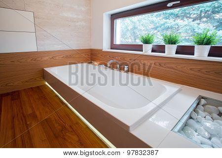 Large White Bathtub