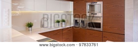 Stylish Kicthen With Decorative Tiles