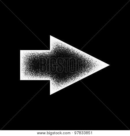 White Abstract Right Arrow Sign