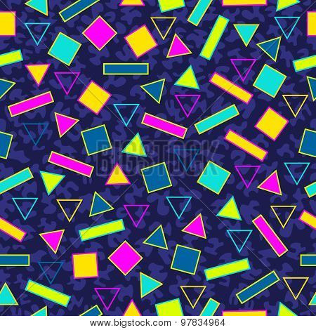 Retro 80S Seamless Pattern
