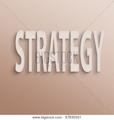 text on the wall or paper, strategy
