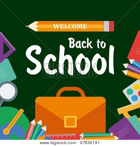 Welcome back to school. Vector flat design