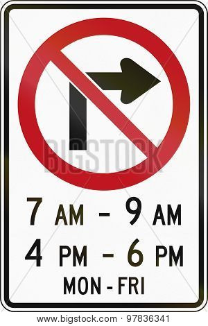 No Right Turn In Times In Canada