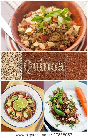 Quinoa Salad Collage