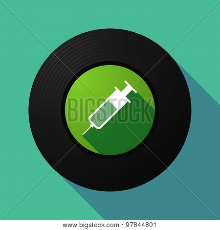Vinyl Record With A Syringe
