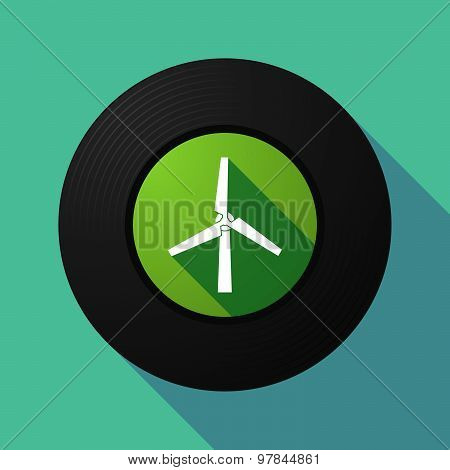 Vinyl Record With A Wind Generator