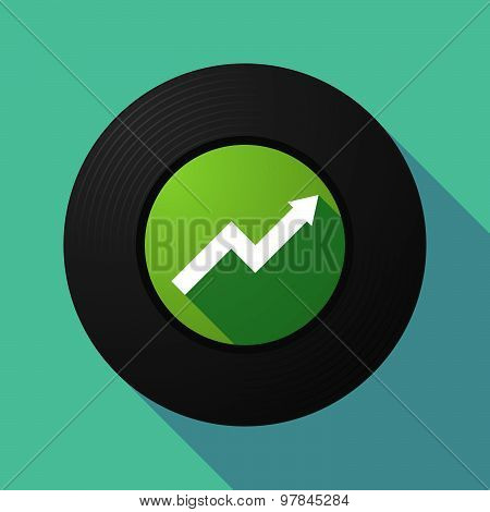 Vinyl Record With A Graph