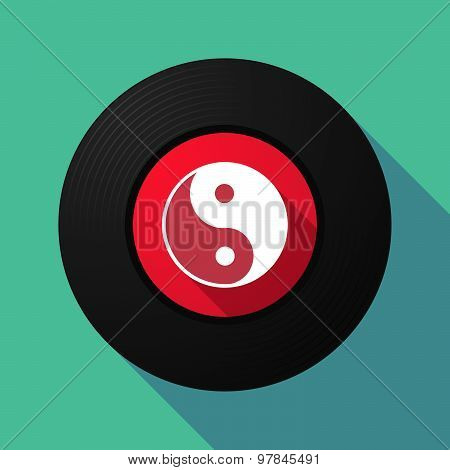 Vinyl Record With A Ying Yang