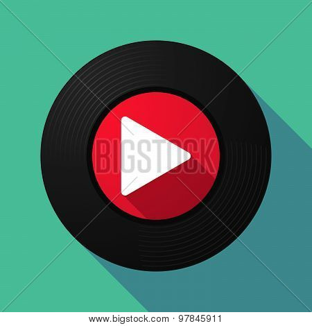 Vinyl Record With A Play Sign