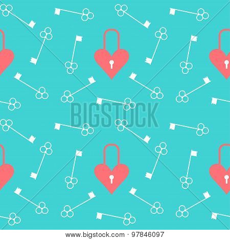 Wedding Seamless Romantic Pattern Background