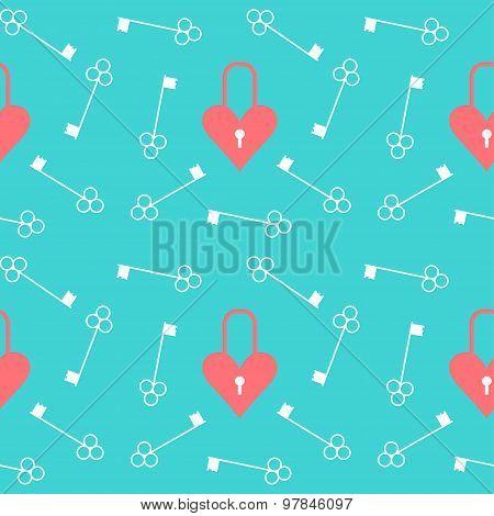 Wedding Seamless Romantic Pattern Background