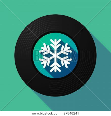 Vinyl Record With A Snow Flake