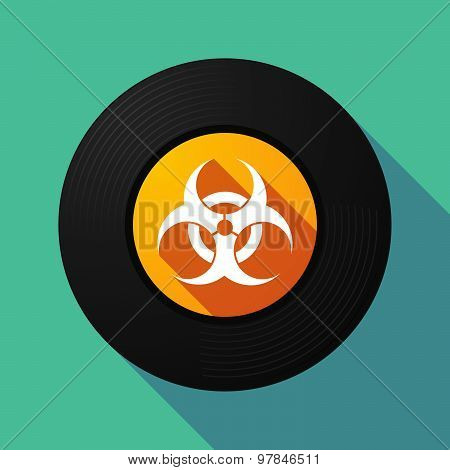 Vinyl Record With A Biohazard Sign