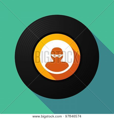 Vinyl Record With A Thief