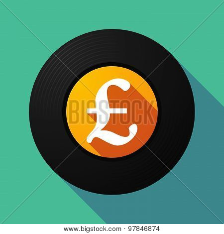 Vinyl Record With A Pound Sign