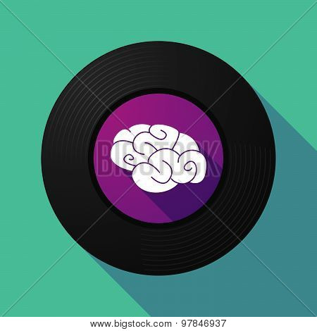 Vinyl Record With A Brain