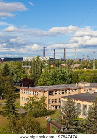 Landscape with extractive industry in Most in Czech republic